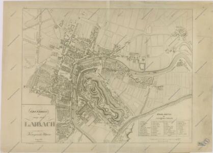 Grundriss der Haupt-Stadt Laibach