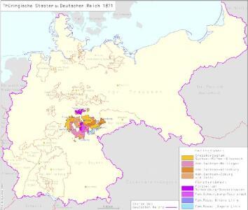Thüringische Staaten im Deutschen Reich 1871