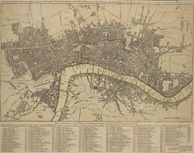 BOWLES'S Reduced NEW POCKET PLAN of the CITIES of LONDON and WESTMINSTER, with the BOROUGH of SOUTHWARK, exhibiting the NEW BUILDINGS to the YEAR 1783.