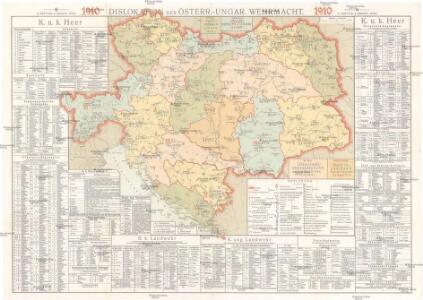 Dislokation der österr[eichischen]- ungar[ischen]- Wehrmacht