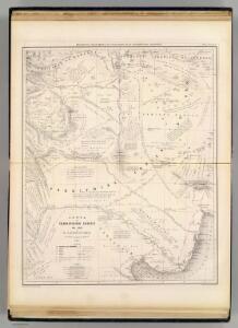 Carte, Territoire Indien du Sud, Region des Pampas.