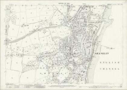 Hampshire and Isle of Wight XCIX.5 (includes: Newchurch; Sandown Shanklin) - 25 Inch Map