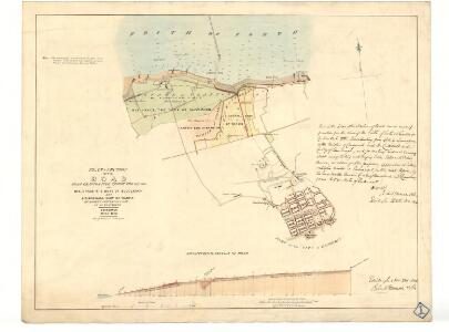 Plan & section of the road from Granton Pier through the lands of His Grace The Duke of Buccleuch.