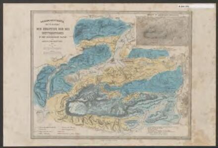 Geologische Karte der Umgebungen der Zugspitze und des Wettersteines in den Bayerischen Alpen