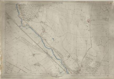 Shropshire LXXI.9 (includes: Culmington; Onibury; Stokesay) - 25 Inch Map