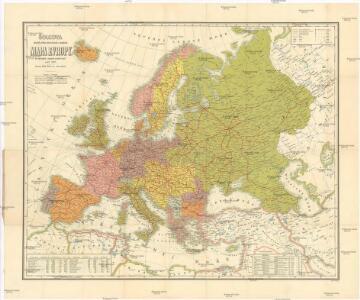 Šolcova nejnovější politická, cestovní, železniční a paroplavební mapa Evropy