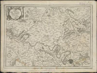 Carte du Vexin, Beauvoisis, et Hurepoix