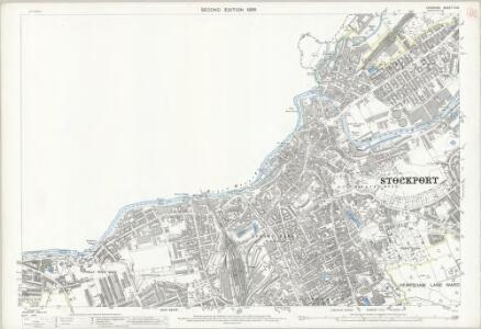 Cheshire X.15 (includes: Stockport) - 25 Inch Map