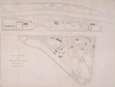 PLAN OF THE GARDEN of the ZOOLOGICAL SOCIETY within the Area of the REGENT'S PARK