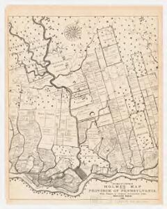 Fac-simile of a portion of Holme's map of the Province of Pennsylvania : with names of original purchasers from William Penn 1681