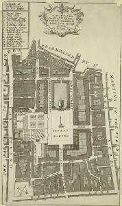 A MAPP of the Parish of St PAULS COVENT GARDEN taken from the last Survey By Blome, Richard
