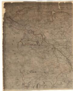 A map of the shire of Lanark.