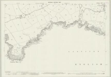 Cornwall LII.10 (includes: Lansallos; Lanteglos) - 25 Inch Map