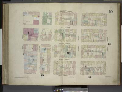 [Plate 19: Map bounded by West Houston Street, Varick Street, Spring Street, West Street; Including King Street, Charlton Street,      Vandam Street, Washington Street, Greenwich Street, Hudson Street]