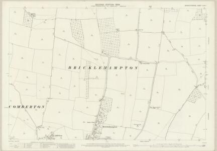 Worcestershire XLIX.1 (includes: Bricklehampton; Cropthorne; Elmley Castle; Little Comberton; Netherton) - 25 Inch Map