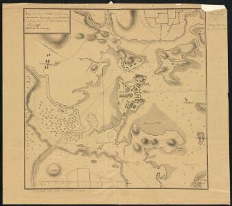 Plan of the town of Boston and circumjacent country shewing the present situation of the Kings troops & the Rebels Intrenchments 25th July 1775