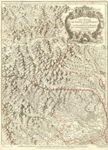 Les Estats de Savoye et de Piémont le Dauphiné, la Bresse Partie du Lionnois et de la Provence.