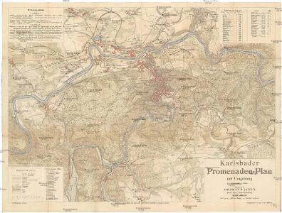 Karlsbader Promenaden-Plan mit Umgebung