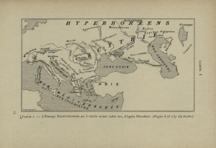 L'Europe Nord-Orientale au 5e siècle avant notre ère, d'après Hérodote