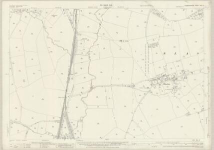 Leicestershire XLVI.3 (includes: Blaston; Hallaton; Horninghold; Medbourne; Slawston) - 25 Inch Map