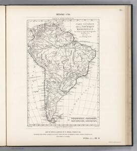 Facsimile:  South America by Bonne.
