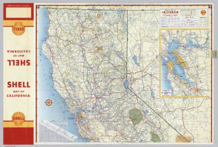Shell Highway Map of California (northern portion).