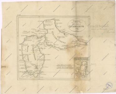 Charte von der Insel Guadeloupe