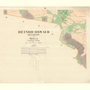 Heinrichswald (Kilerzow) - m1110-1-009 - Kaiserpflichtexemplar der Landkarten des stabilen Katasters