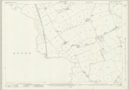 Suffolk LXXIX.12 (includes: Bures St Mary; Great Henny; Lamarsh; Little Cornard) - 25 Inch Map