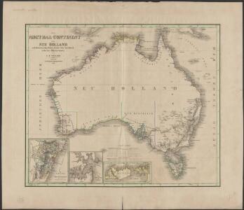 Das Austral-Continent oder Neu Holland : nach Krusenstern, King, Freycinet, Oxley, Sturt, Mitchell