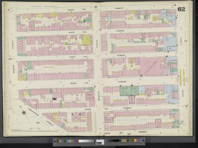 Manhattan, V. 3, Double Page Plate No. 62 [Map bounded by W. 17th St., 6th Ave., W. 12th St., Greenwich Ave., 8th Ave.]