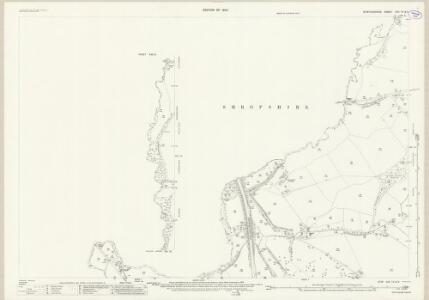 Staffordshire XXII.13 (inset XXII.9) (includes: Market Drayton; Norton In Hales; Tyrley) - 25 Inch Map