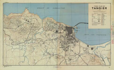 Morocco town plans (1942/43), Tangier