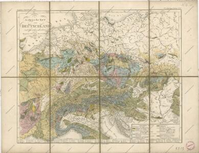 Geologische Karte von Deutschland und anlieg. Ländern