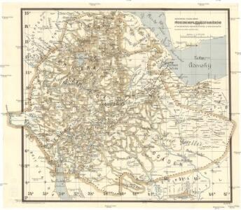 Cestovatele Viléma Němce přehledná mapa Císařství habešského s poznámkami zoografickými a místopisnými