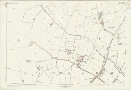 Warwickshire XLII.12 (includes: Abbots Morton; Church Lench; Salford Priors) - 25 Inch Map