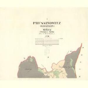 Prussinowitz (Rassosow) - m2558-1-001 - Kaiserpflichtexemplar der Landkarten des stabilen Katasters