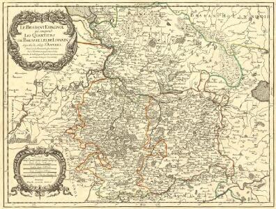 Le Brabant Espagnol qui comprend les Quartiers de Bruselles, de Louvain et partie de celuy d'Anvers