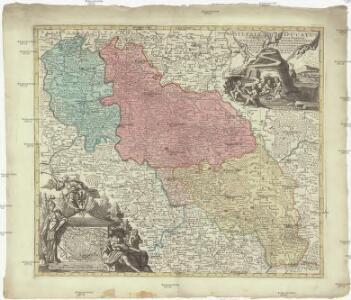 Silesiae Ducatus tam superior quam inferior, juxta suos 17 minores principatus et 6 libera dominia disterminat