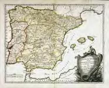 Carte de l'Espagne ancienne