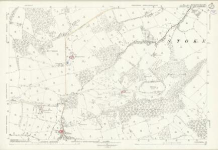 Herefordshire XIII.8 (includes: Bockleton; Hampton Charles; Kyre; Stoke Bliss; Thornbury) - 25 Inch Map