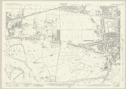 Lancashire CX.4 (includes: Davyhulme; Sale; Stretford; Urmston) - 25 Inch Map
