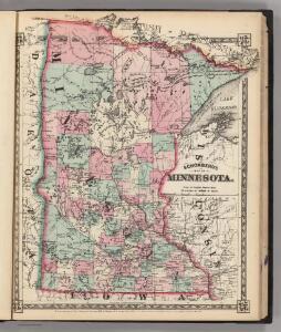 Schonberg's Map of Minnesota.