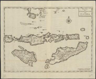 Kaart der zuyd-wester eylanden van Banda