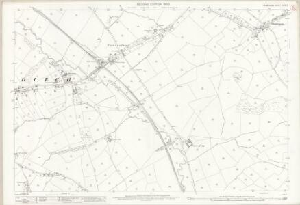 Derbyshire XLIV.3 (includes: Hazlewood; Shottle and Postern; Turnditch; Windley) - 25 Inch Map