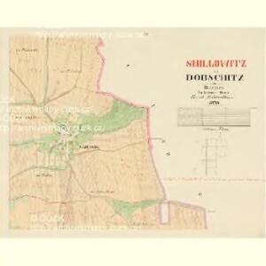Dobschitz - c1223-1-003 - Kaiserpflichtexemplar der Landkarten des stabilen Katasters