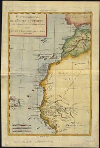 Partie occidentale de l'ancien continent depuis Lisbonne jusquà la Riviere de Sierra Leona, avec l'Isle Madere, les Isles Canaires, et celles du C. Verd
