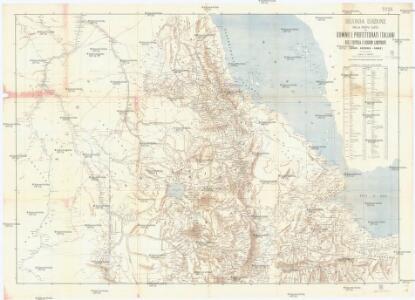 Seconda edizione della nuova carta dei domini e protettorati italiani nell' Eritrea e regioni limitrofe