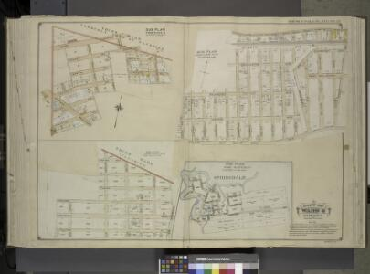 Queens, Vol. 1, Double Page Plate No. 24; Part of     Ward 4; Jamaica; Sub Plan From Plate 18; [Map bounded by 3rd Ward Formerly town  of Flushing, Union Turnpike, Louis St.; Including Ernest Ave., Hoffman Ave.,     Hoffman Boulevard, Augustina Ave.];