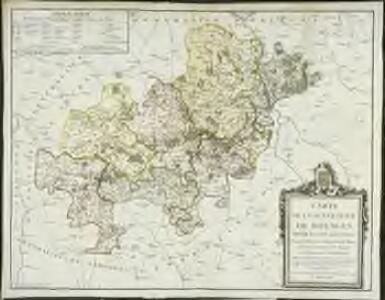 Carte de la généralité de Bourges